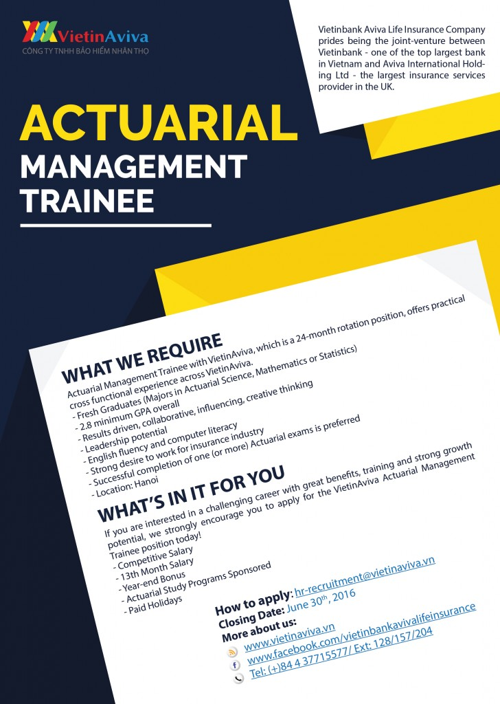 Actuarial Management Trainee
